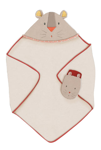 Moulin Roty - Les Papoum Hooded towel and mitt