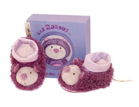 Moulin Roty - Les Zazous Cat baby slippers