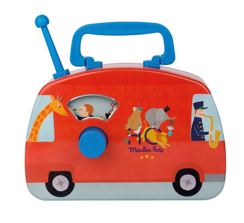 Moulin Roty - Les Jouets metal Musical bus – circus