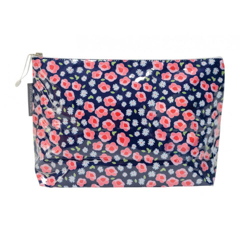 Cosmetic Bag - Large - Flower Edging