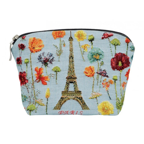 Annabella French Tapestry Cosmetic Bag - Eiffel Tower