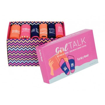 FUNKY FEET SOCKS - GIRL TALK