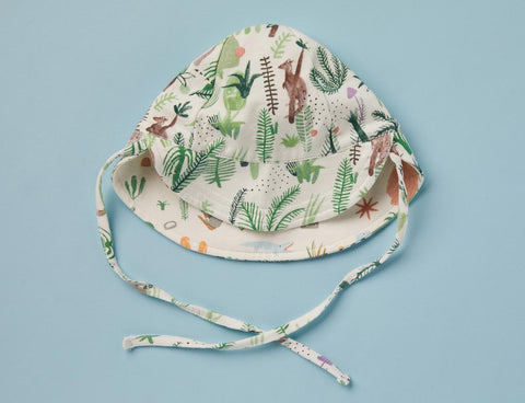 Fern Gully Print - Reversible Sun Hat - Fern Gully reversible sun hat