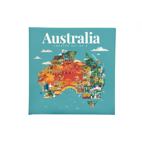 Australia Coasters - Set of 8