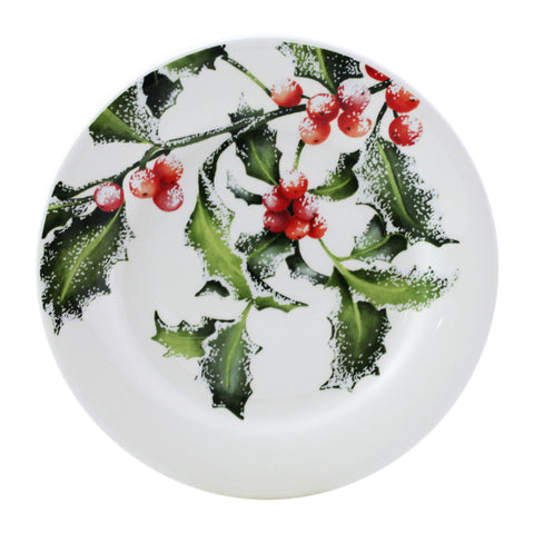 Gien - Holly set of 4 canapes plates