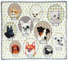 Gien - Square Plate Darling Dog