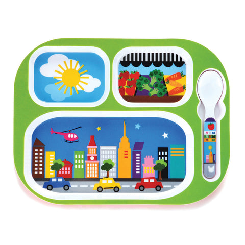 French Bull Everyday Tray Kids Meal Tray - City - Bon Genre - 1