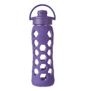 Glass Bottle 22oz Flip Top Royal Purple - Bon Genre - 1