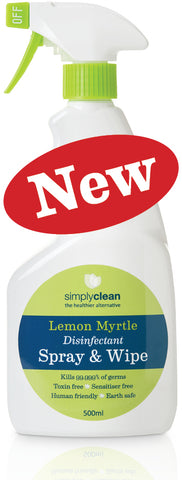 Simply Clean - Lemon Myrtle Disinfectant Spray & Wipe