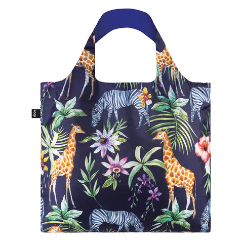 Loqi Shopping Bag WILD Collection - Zebras