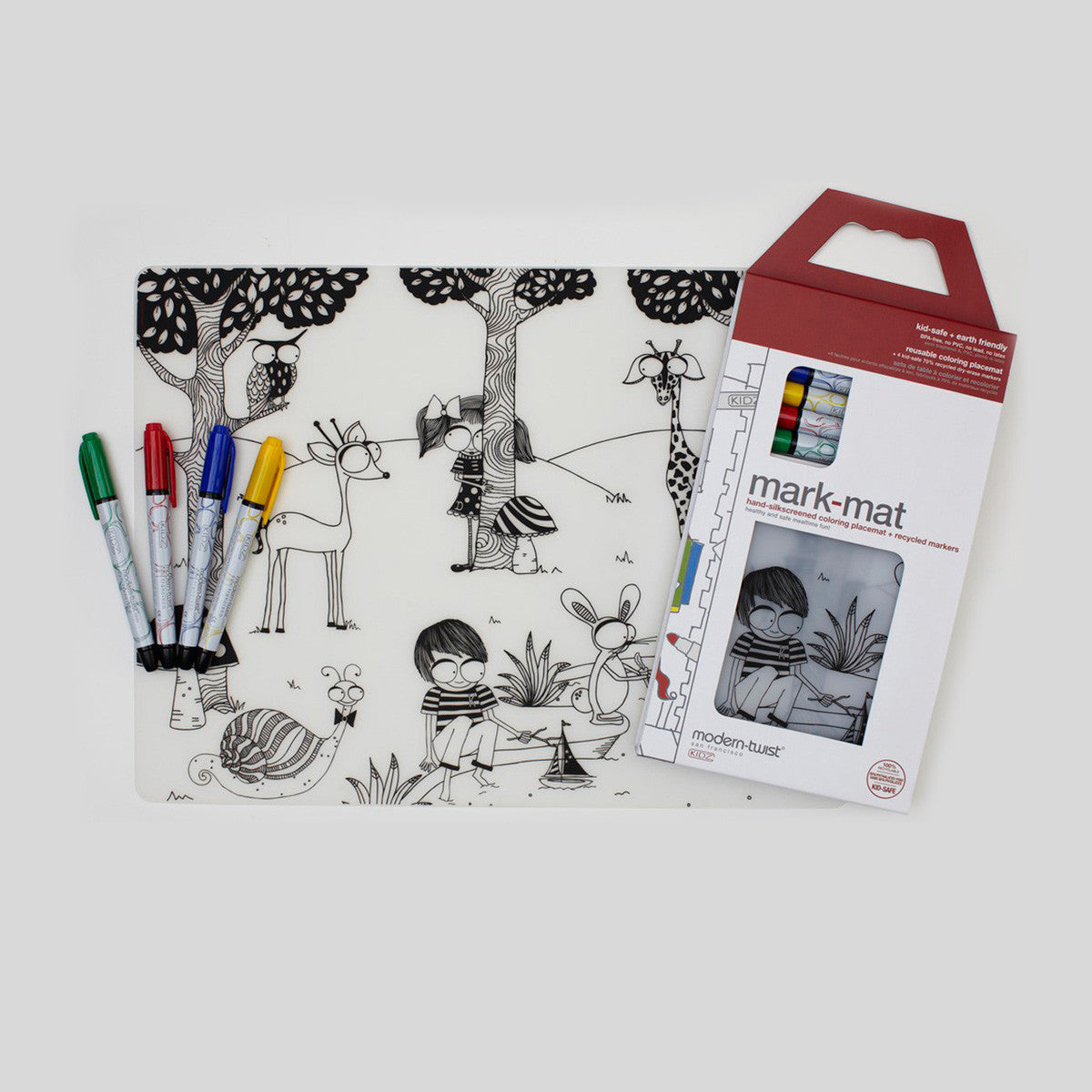 modern twist  mark mat placemat with markers – bon genre - modern twist  mark mat placemat with markers