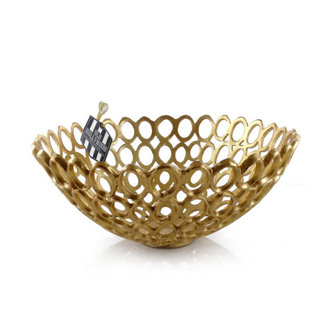Gold Weave Bowl Large