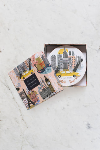 Rifle Paper Co.'s coaster Cities - sets of 8