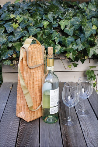 Wicker Print Wine Cooler
