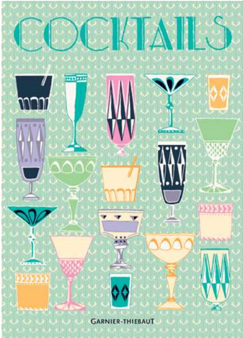Garnier Thibaut - Tea Towel Cocktails Blue