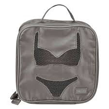 Travel Lingerie Tote - Grey