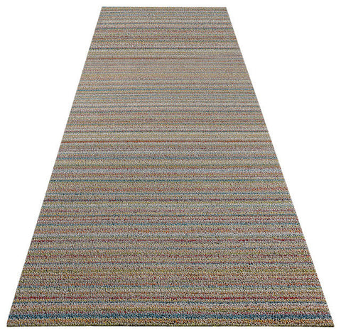 Chilewich Shag In Out Mat Skinny Stripes 61x183cm - SOFT MULTI - Bon Genre - 1