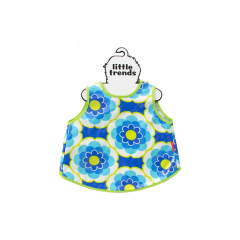 Kids Easy Wipe Smock - Blue Flower