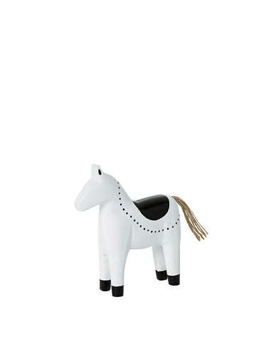 Gabriel standing horse black & white small