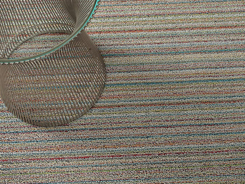 Chilewich Shag In Out Mat Skinny Stripes 61x91cm - SOFT MULTI - Bon Genre