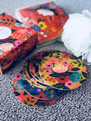 Rifle Paper Co.'s coaster Floral - sets of 8