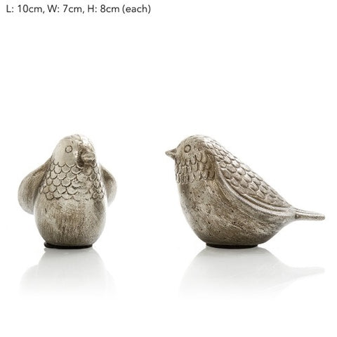 Amalfi Birds Set of 2 Silver