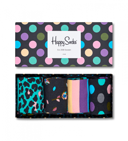Happy Socks - Stripe Gift Box Big Dot - S/M