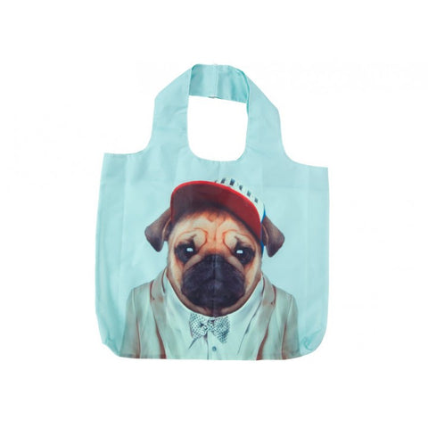 Shopping Tote - Zoo Portraits Pug