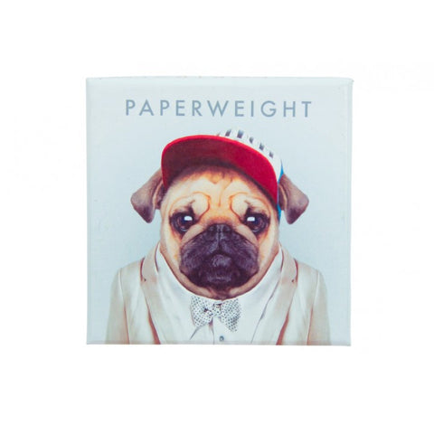 Zoo Portrait Paperweight - Pug