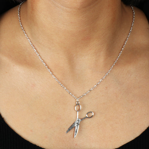 Running with Scissors Necklace