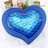Heart Shape Box with 100 pc Artificial  Floral Roses