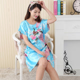 Colorblocked Butterfly Print Nightie - Theone Apparel