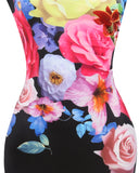 Oversize Floral Graphic Sheath Dress