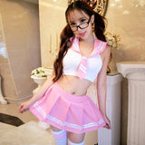 Cropped Naughty School Girl Costume - Theone Apparel