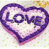 I Love You 100 pc Flower Rose in Heart Shaped Box