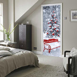 3D Christmas Tree Door Sticker - Theone Apparel