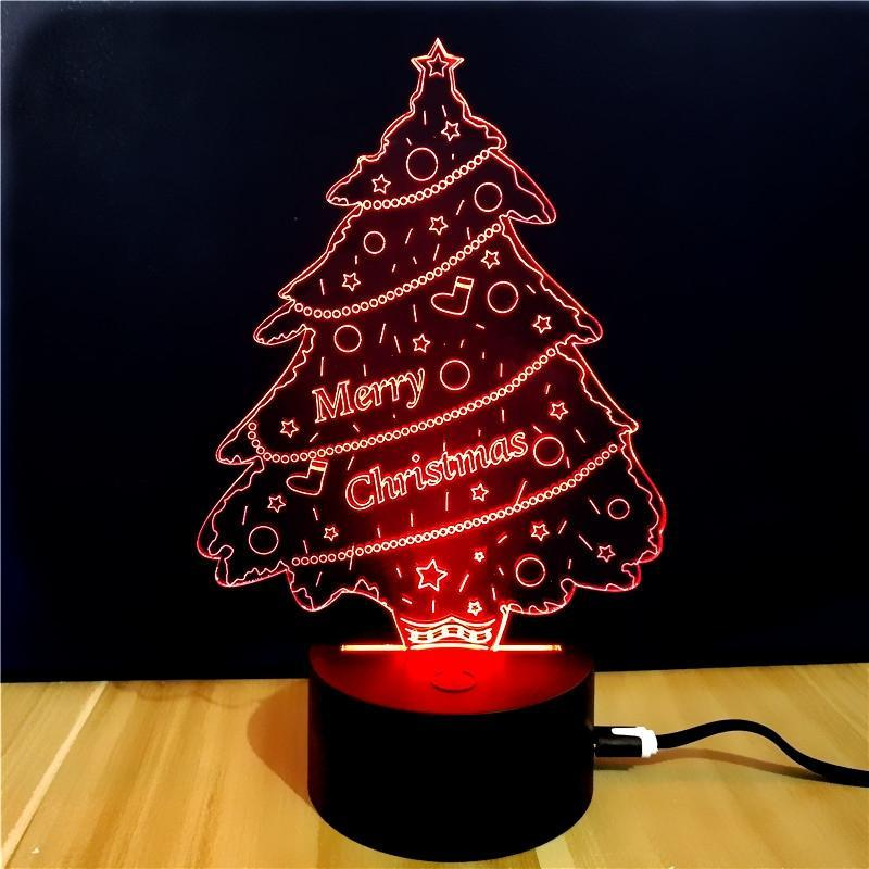 3D Merry Christmas LED Lamp - Theone Apparel