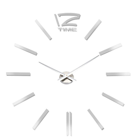 3D Mirror Effect Quartz Wall Clock - Theone Apparel