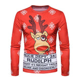 3D Reindeer Christmas Crew Neck Shirt - Theone Apparel