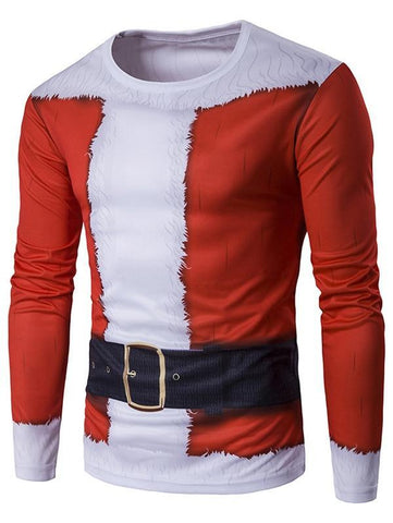 3D Santa Claus Christmas Mens Shirt - Theone Apparel