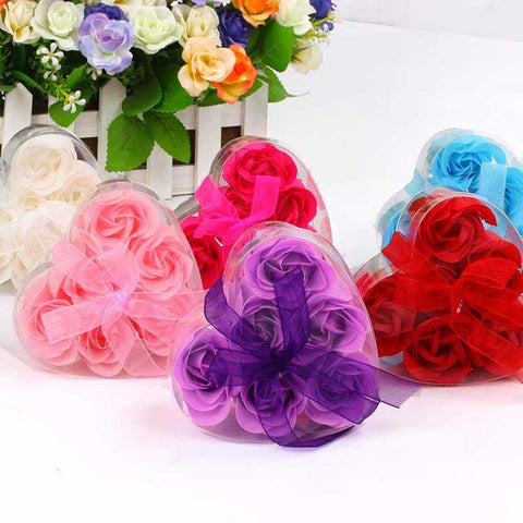 6 Artificial Rose Heart Box with Ribbon - Theone Apparel