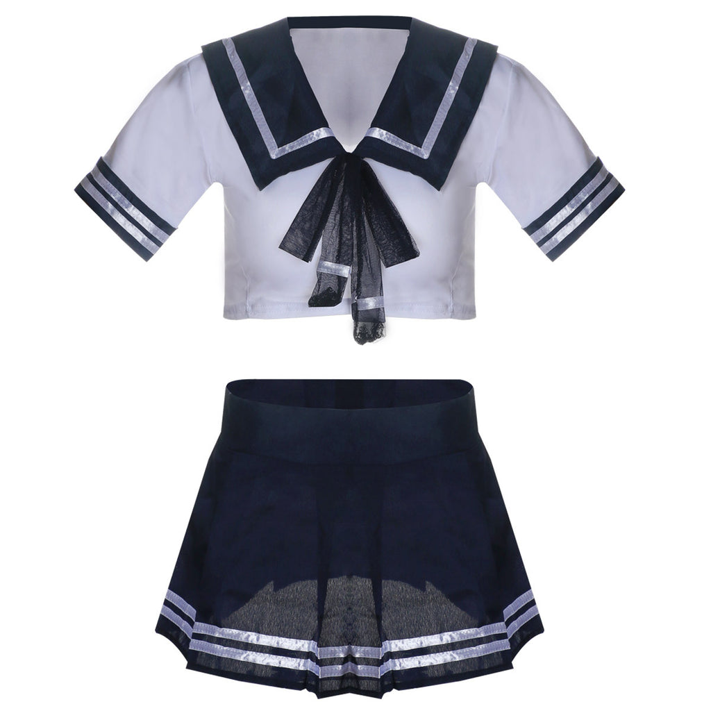 Sexy Sailor Girl Lingerie Costume Set