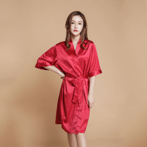 Sweet and Simple Satin Tie Robe