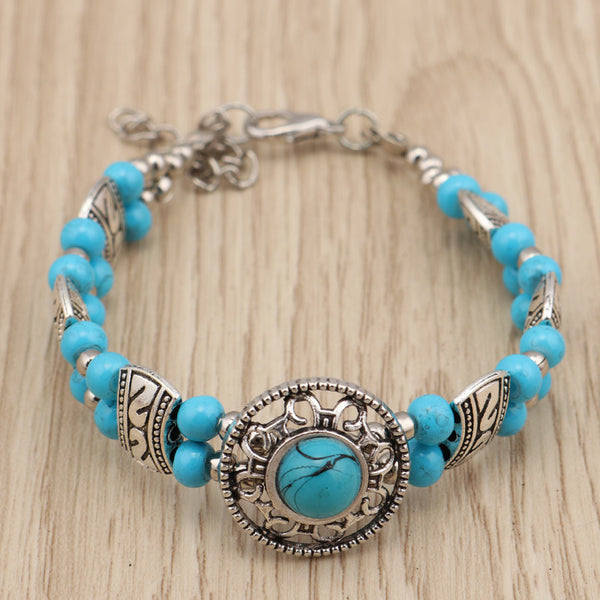 Blue Beaded Metallic Charm Blue - from $6.35