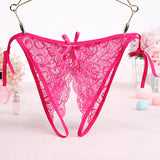 Crotchless Lace Side Tie Panty - Theone Apparel