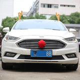 Antlers and Red Nose Car Decorations - Theone Apparel