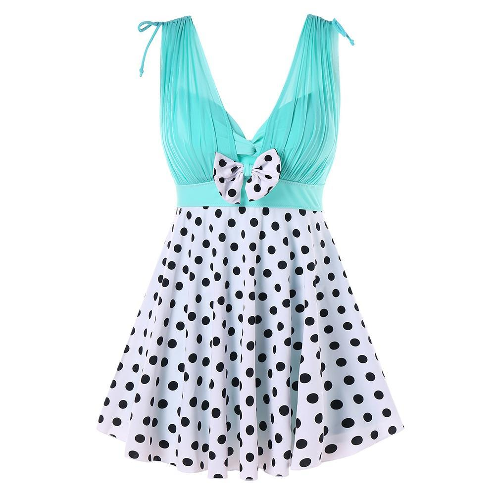 One Piece Polka Dot Swimwear