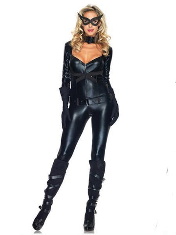 Bad Cat Women Latex Cosplay Costume - Theone Apparel