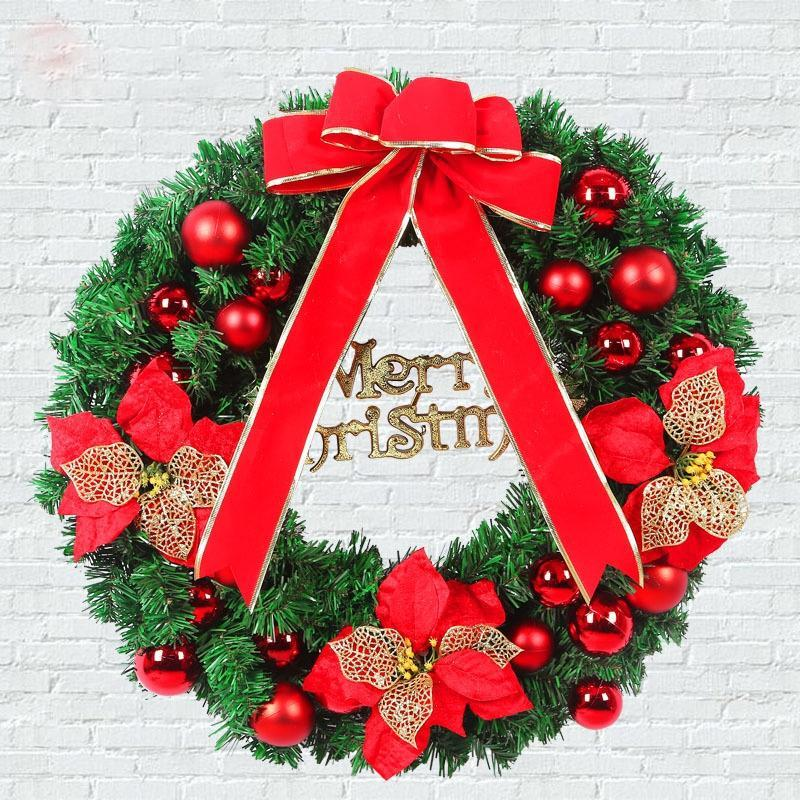 Beautiful Christmas Wreath With Ornaments - Theone Apparel