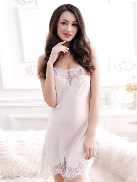 Silky Lace Slip Nightie
